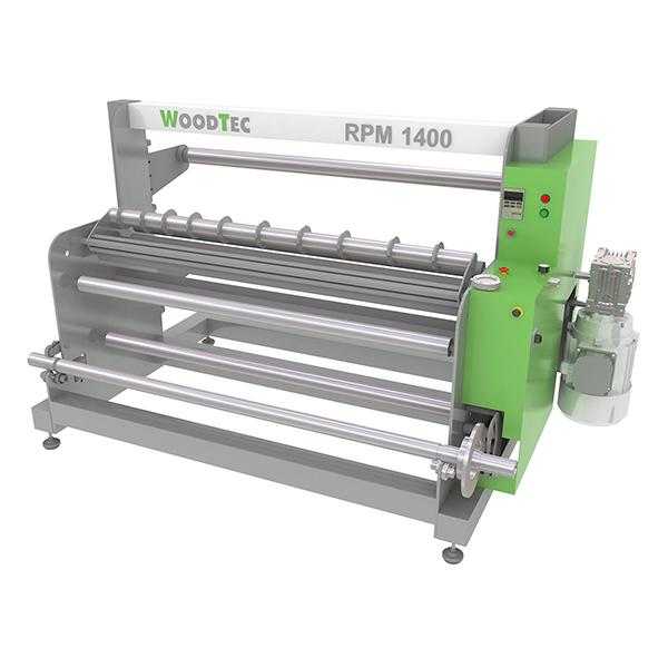 Фото: Станок для резки рулонных материалов с перемоткой WoodTec RPM 1400