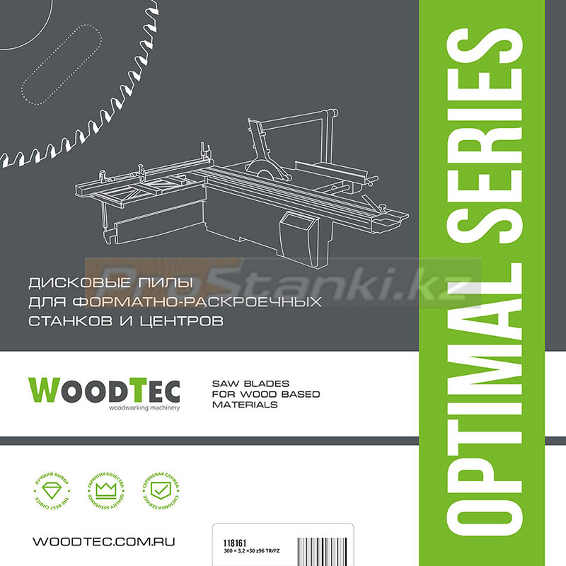Фото: Основная пила WoodTec для форматно-раскроечных станков Ø300 х 3,2/2,2 х 30 Z96TR